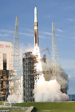 Evolved Expendable Launch Vehicle - Delta IV liftoff from SLC-37. Delta IV is one of the rockets in the EELV program.