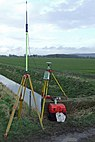 GPS Survey Equipment at Weir Dyke Bridge - geograph.org.uk - 336908.jpg