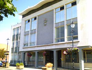 West Lindsey - Gainsborough Guildhall - the former offices of WLDC before 2008