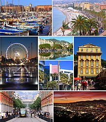 The city of Nice and its sightseeing sites