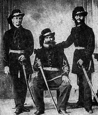Românul - Personnel of the Citizens' Guard, photographed in 1866