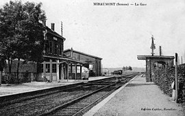Miraumont railway station in the early 20th century