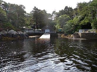 Garnish Island - Landing slip at Garnish Island