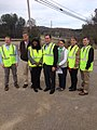 Gary Palmer and Terri Sewell tour Northern Beltline construction site in Alabama - 2015 02.jpg