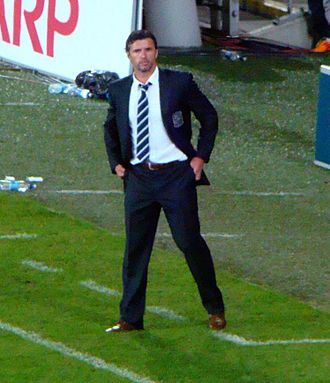 Gary Speed - Speed managing Wales in 2011
