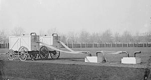 Union Army Balloon Corps - Two of the hydrogen gas generators assigned to each balloon for inflating on the battlefield