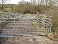 Gates form stock pens, near Holton - geograph.org.uk - 1172105.jpg