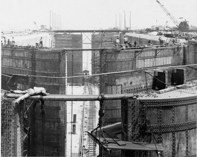 Gatun Lock Construction, Panama Canal, March 12, 1912