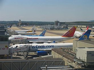 Busiest airports in the United Kingdom by total passenger traffic - Gatwick Airport, the second busiest airport after Heathrow.