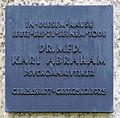 Gedenktafel Bismarckallee 14 (Grunew) Karl Abraham.JPG