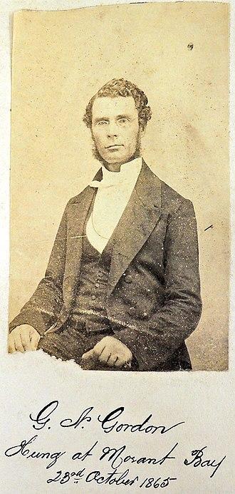 George William Gordon - Image: George William Gordon photograph