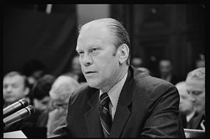 Paraphrasing of copyrighted material - President Gerald Ford at the hearing on pardoning former President Richard Nixon. When The Nation magazine published excerpts of Ford's unpublished memoir describing his reason for pardoning Nixon, the Supreme Court ruled that copyright was infringed even though Ford was a public figure describing a public event.