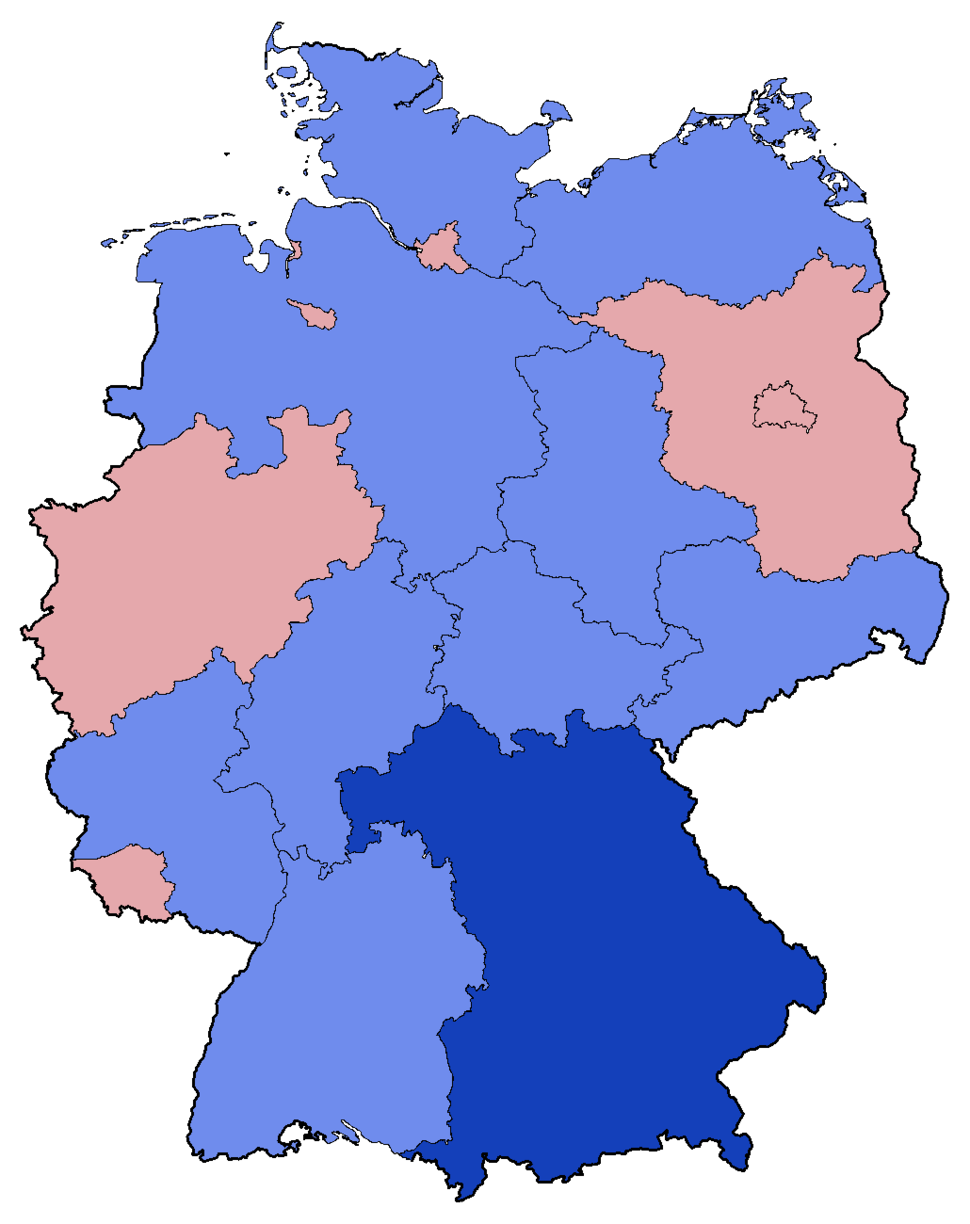 German Federal Election - Party list vote results by state - 1994
