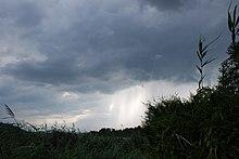 Nubi temporalesche nei pressi di Neumarkt am Wallersee, Austria.