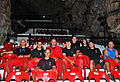 Gibraltar Museum Caving Unit in St. Michael's Cave auditorium.jpg