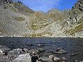 Glacial lake, Fagaras mountains.jpg