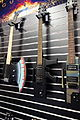 Glen Burton GE2011 AXE, GE47 AK47 Machine Gun electric guitars - Bridgecraft USA Inc. - 2015 NAMM Show.jpg