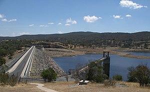 Queanbeyan River - Googong Dam spillway and dam wall