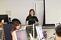GorillaWarfare teaching advanced Wikipedia editing, 2011-07-09.jpg