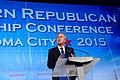 Governor of Florida Jeb Bush at Southern Republican Leadership Conference, Oklahoma City, OK May 2015 by Michael Vadon 13.jpg