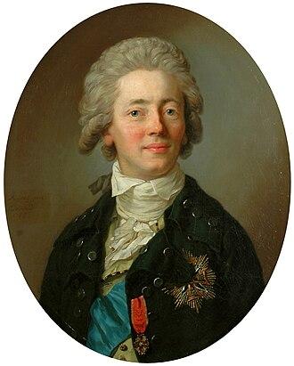 Stanisław Kostka Potocki - Portrait by Anton Graff