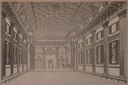 Grand Hall, Freemason's Hall, London (Designed by Thomas Sandby and built in 1776) Grand Hall, Freemason's Hall, London 1776.jpg