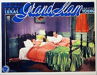 Grand Slam (1933 film) - Lobby card