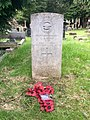 Gravestone of Flight Sergeant (Pilot) Graham Alexander Kemp of the Royal Air Force Volunteer Reserve at Llanishen Cemetery, May 2020.jpg