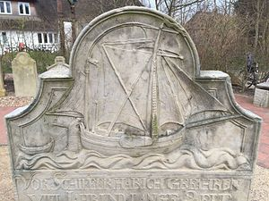 Talking Gravestones of Amrum - Various types of ships are depicted.