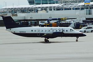 Great Lakes Airlines - A Great Lakes EMB 120 at Denver International Airport