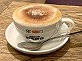 Green Caffé Nero at PKiN, Warsaw, Poland, 2019, Cappuccino.jpg