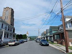 Schuylkill Township, Schuylkill County, Pennsylvania - Image: Green St, Brockton, Schuylkill Twp, Schuylkill Co PA