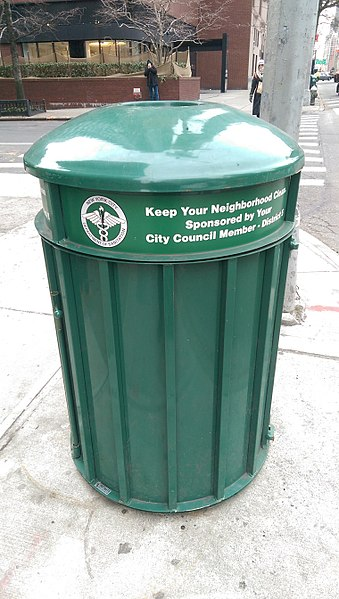 File:Green Trash Can in New York City.jpg