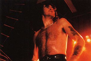 Back in Black - Bon Scott, the band's former vocalist in December 1979.