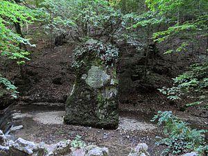 Amanz Gressly - Memorial stone of Amanz Gressly at Verenaschlucht near Solothurn, Switzerland