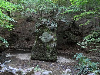 Amanz Gressly - Memorial stone of Amanz Gressly at Verenaschlucht near Solothurn, Switzerland