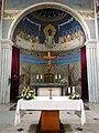 Groesbeek (NL) De Horst, Goddelijk Hart van Jezuskerk muurschildering priesterkoor.JPG
