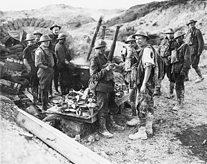 """Passchendaele (film) - Canadians """"100 yards from Boche lines"""" during the push on Hill 70."""