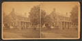 Group of people in front of a home, Block Island, some playing croquet, child on tricycle, from Robert N. Dennis collection of stereoscopic views.png