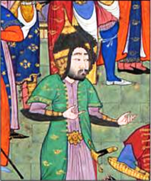 Goudarz - Goudarz in the Shahnameh of Shah Tahmasp