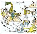 Guerreros tlaxcaltecas junto a sus aliados españoles Lienzo de Tlaxcala. Siglo XVI.jpg