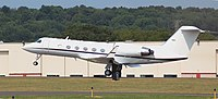 Gulfstream IV Departing Waterbury-Oxford.jpg