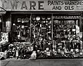 HARDWARE STORE 316-318 Bowery at Bleeker Street in New York City by Berenice Abbott in 1938.jpg