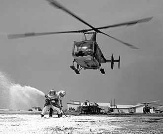 Cam Ranh Base - HH-43B of Detachment 8, 38th Aerospace Rescue and Recovery Squadron at Cam Ranh, January 1968