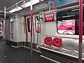 HK MTR train interior 紅色 red seats n poles December 2019 SSG.jpg