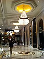 HK TST East 64 Mody Road 九龍香格里拉酒店 Kowloon Shangri-La Hotel lobby hall interior ceiling light chandeliers visitor Nov-2012.JPG