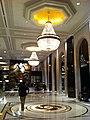 HK TST East 64 Mody Road 九龍香格里拉酒店 Kowloon Shangri-La Hotel lobby hall interior ceiling light chandeliers visitor Nov-2012.JPG