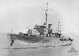 HMAS Wagga - HMAS Wagga in 1944
