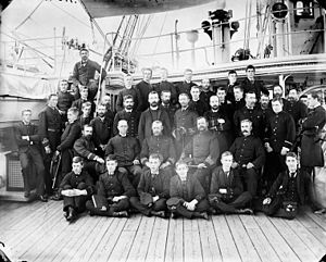 HMS Bellerophon (1865) - Image: HMS Bellerophon officers LAC 3333085