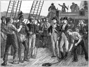 HMS Briton (1812) - HMS Briton at Pitcairn Island